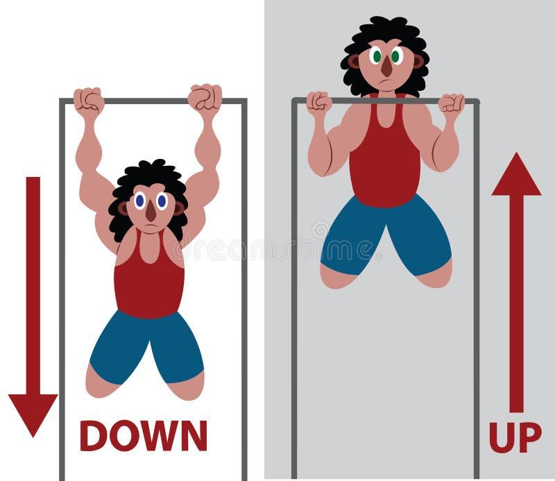 Het doen van wat trekkracht UPS vector illustratie