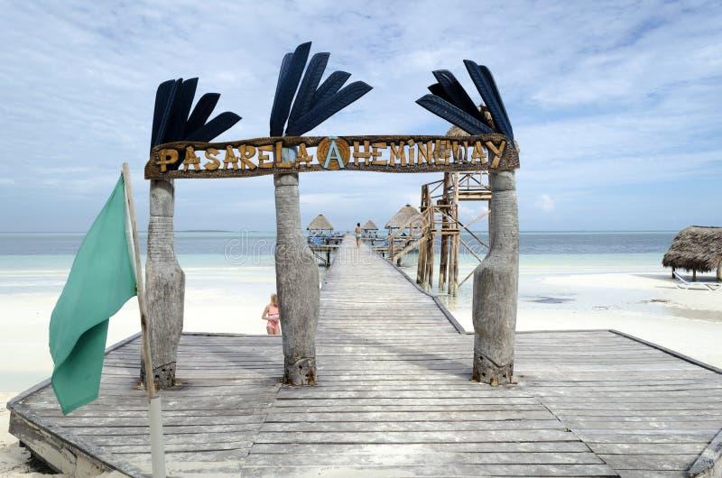 Het dok van Pasarelahemingway stock foto