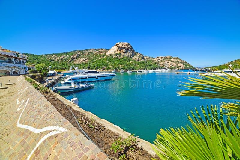 Het dok van Poltuquatu in Sardinige royalty-vrije stock foto's