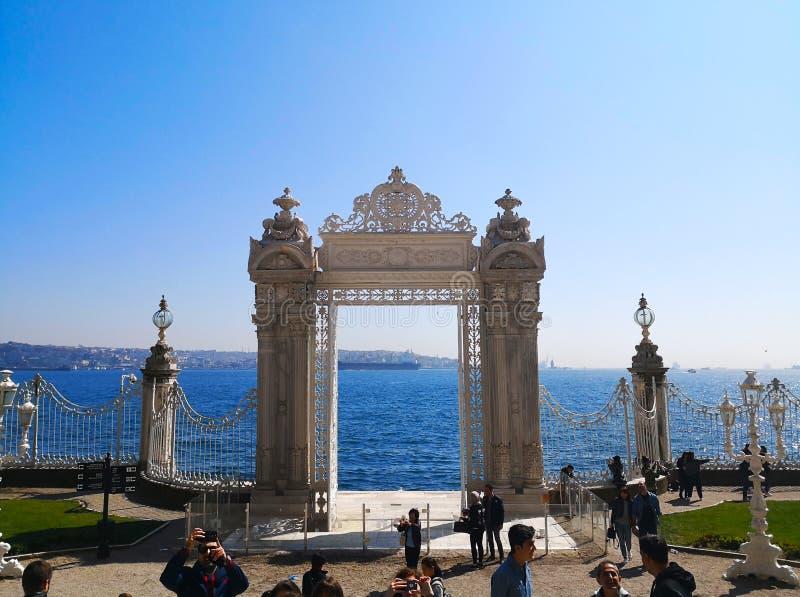 Het Dolmabahce-paleis in Istanboel, 30 Turkije-Maart, 2018: St royalty-vrije stock afbeelding