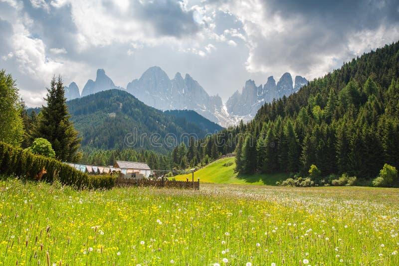 Het Dolomiet, Noordelijk Italië stock afbeeldingen
