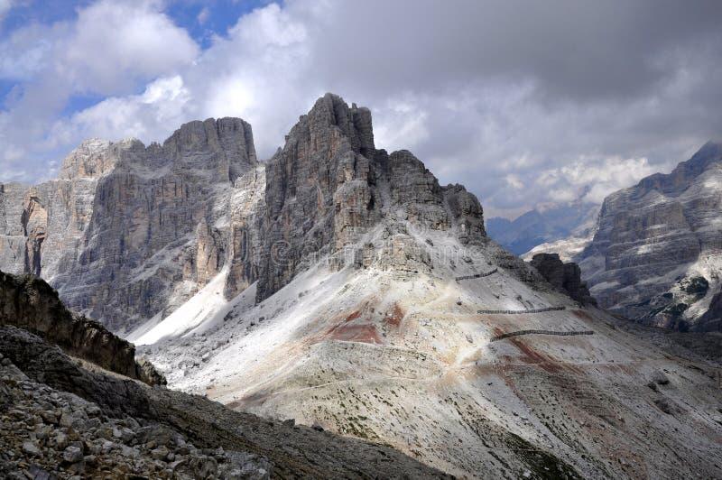 Het Dolomiet van het landschap stock afbeeldingen