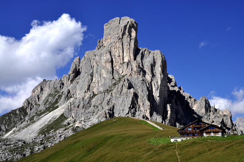 Het Dolomiet van het landschap stock afbeelding