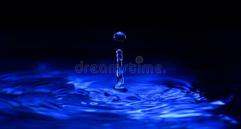 Het donkerblauwe Detail van de Waterdaling royalty-vrije stock afbeeldingen