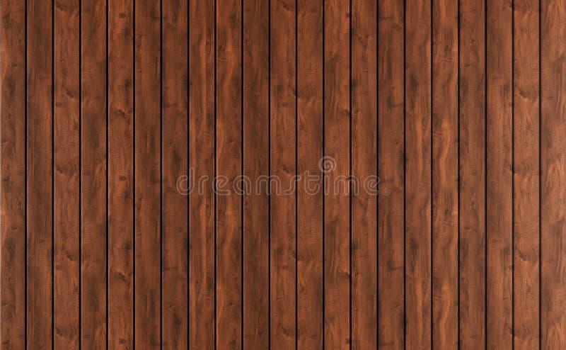 Het donkere houten met panelen bekleden vector illustratie