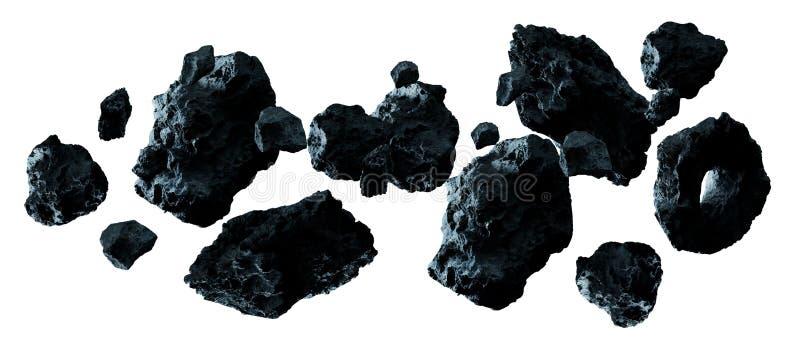 Het donkere rots stervormige pak 3D teruggeven stock illustratie