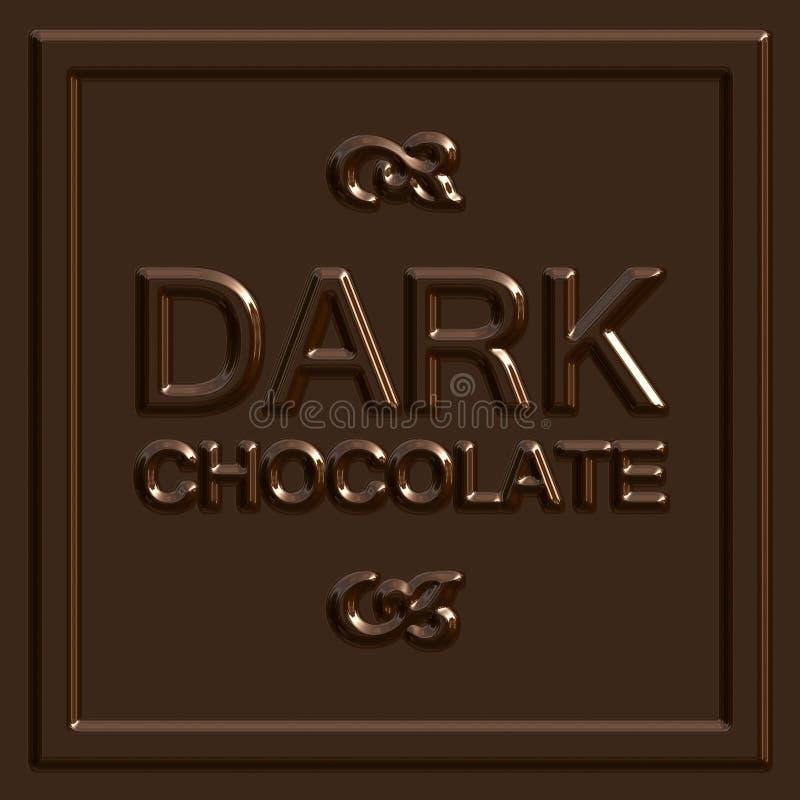 Het donkere Vierkant van de Chocolade vector illustratie