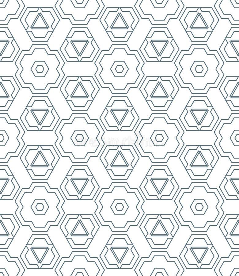 Het donkere zwart-wit abstracte geometrische naadloze geklets van het kleurenoverzicht royalty-vrije illustratie