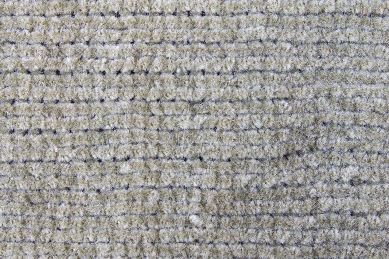 Het donkergroene Breien of Gebreide het Patroonachtergrond van de Stoffentextuur stock afbeelding