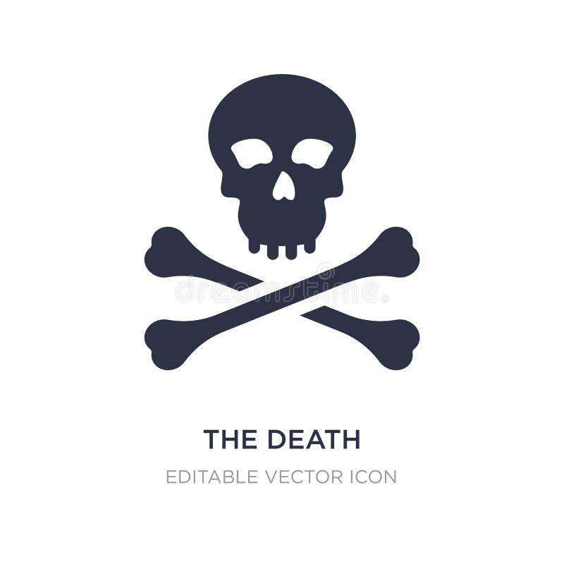 het doodspictogram op witte achtergrond Eenvoudige elementenillustratie van Algemeen concept stock illustratie