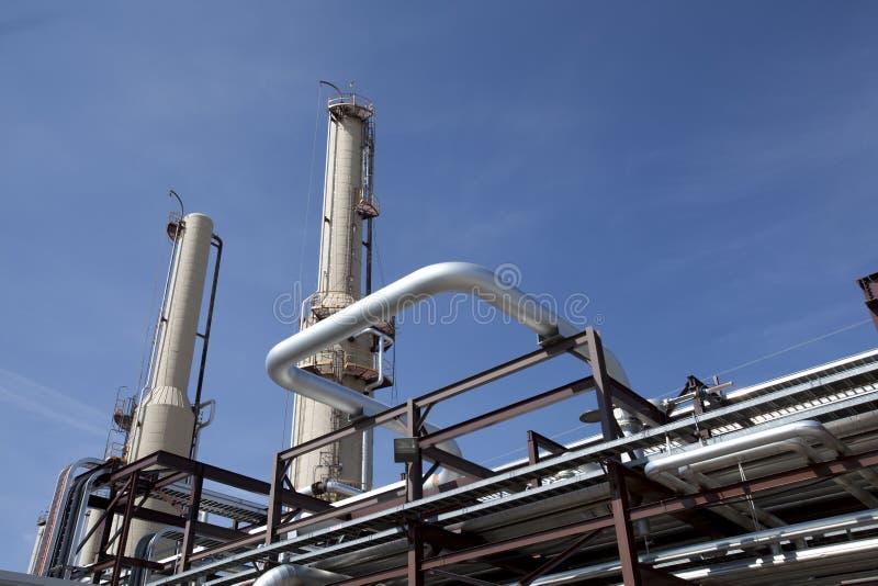 Het Door buizen leiden van de Installatie van de Compressor van het gas royalty-vrije stock afbeeldingen
