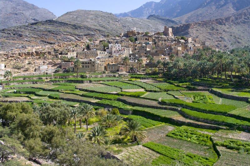 Het dorp Bilad Sayt, Oman stock fotografie