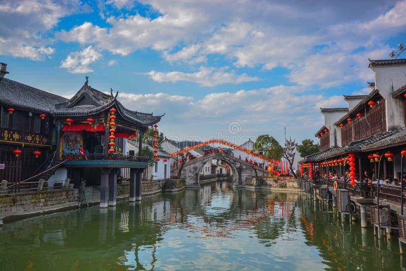 Het Dorp China van het Jiangnanwater royalty-vrije stock fotografie