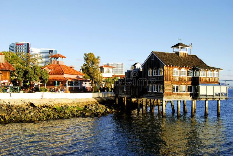 Het Dorp San Diego van de zeehaven stock fotografie
