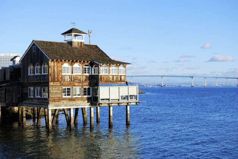 Het Dorp San Diego van de zeehaven stock foto's