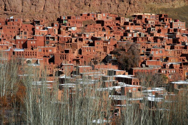Het dorp van Abyaneh stock afbeeldingen