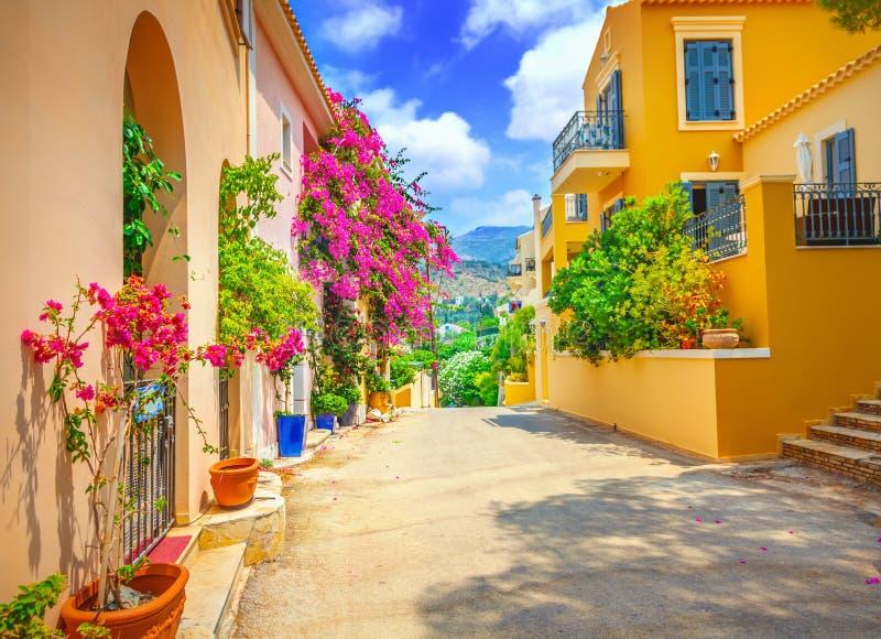 Het dorp van Assos stock foto's