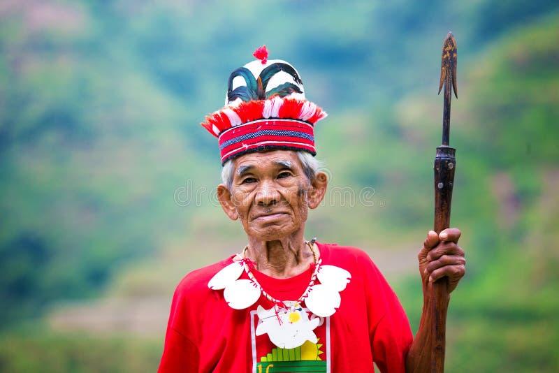 Het dorp van Batad, Filippijnen 3 Maart, 2015 Close-upportra royalty-vrije stock foto's
