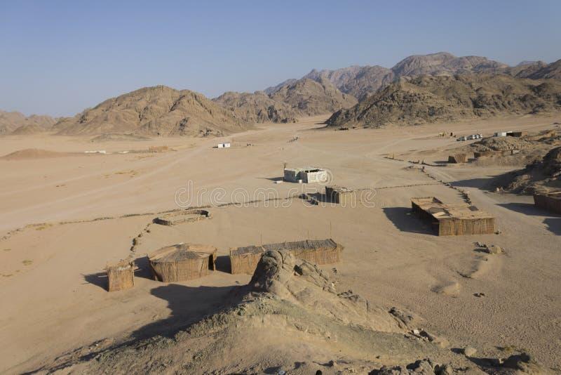 Het dorp van Beduine stock fotografie