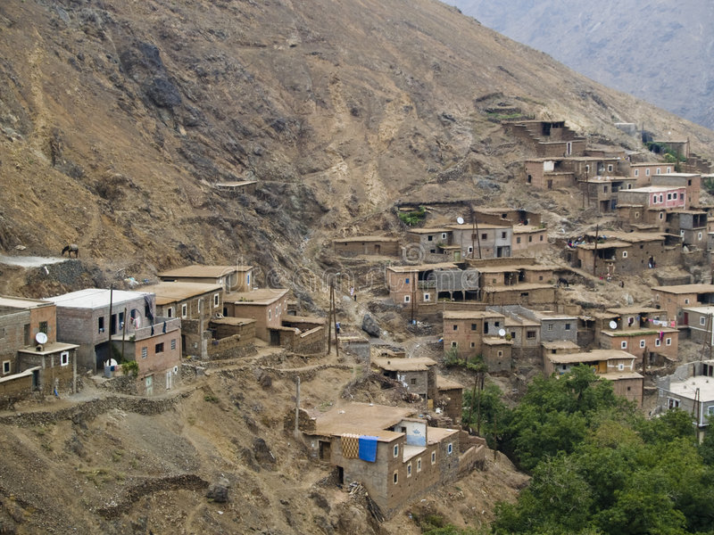 Het dorp van Berber stock afbeelding