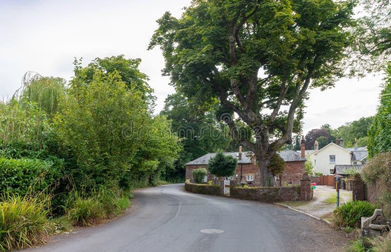 Het dorp van Cockington stock afbeelding