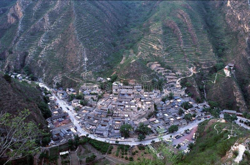 Het dorp van Cuandixia stock fotografie