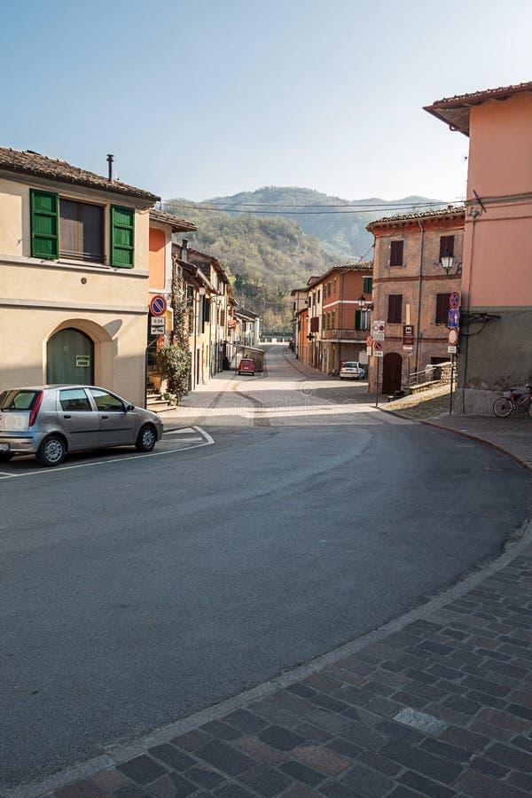 Het dorp van Cusercoli royalty-vrije stock afbeelding