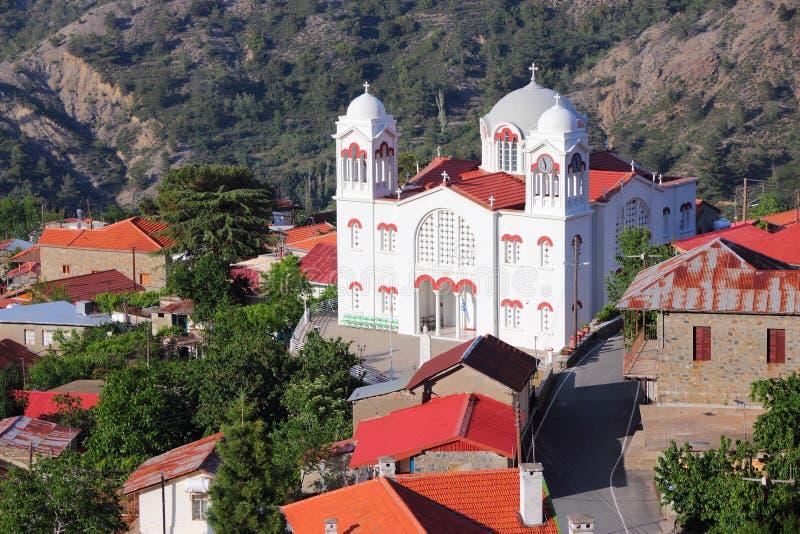 Het dorp van Cyprus stock foto