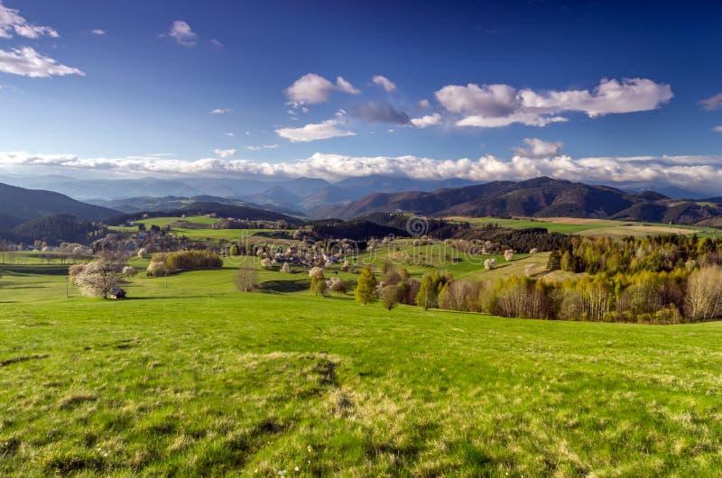 Het dorp van de berg stock foto