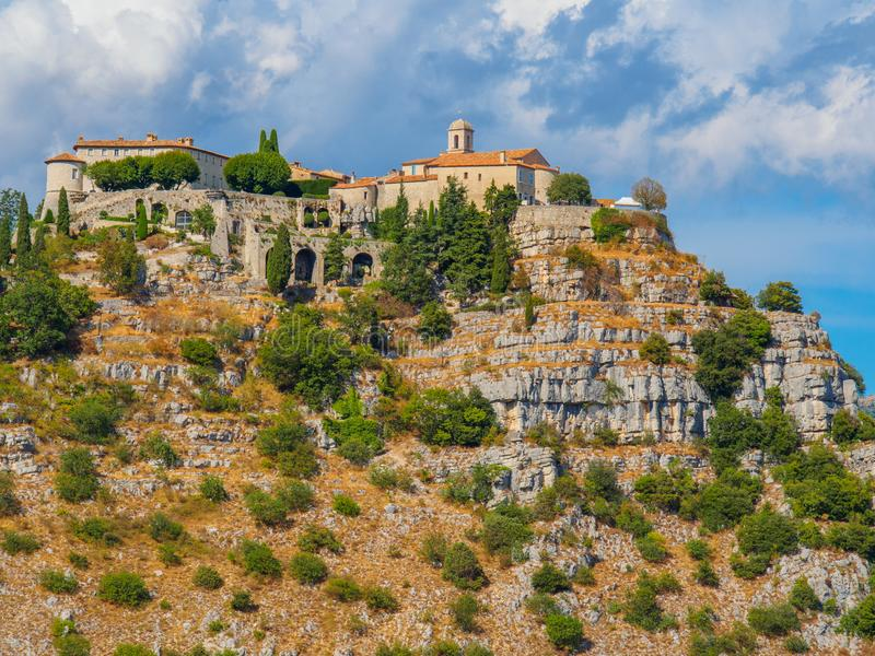 Het dorp van de Gourdonberg, Frankrijk royalty-vrije stock foto's