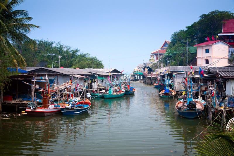 Het dorp van de visser stock foto