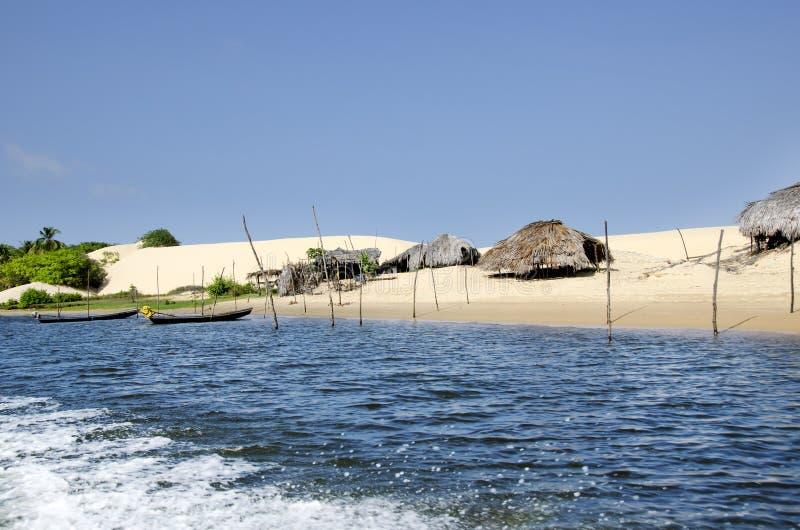 Het dorp van de visser in Jericoacoara in Brazilië royalty-vrije stock foto's