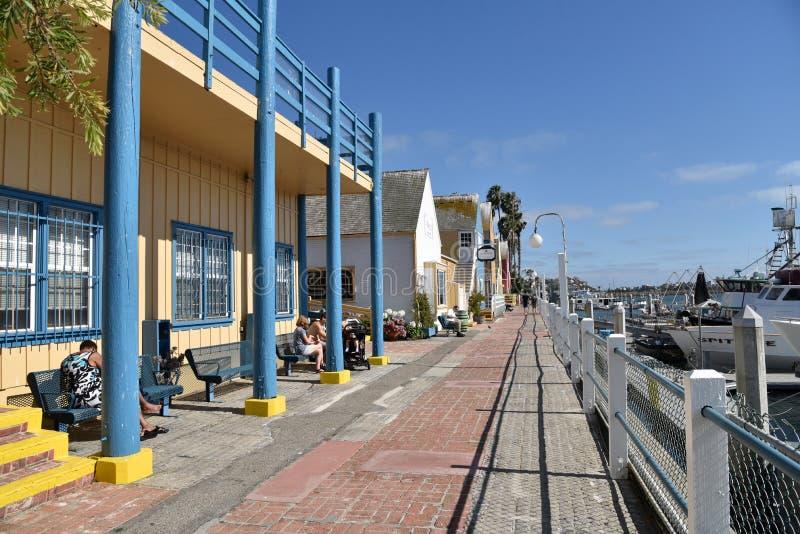 Het Dorp van de visser in Marina Del Rey stock foto's