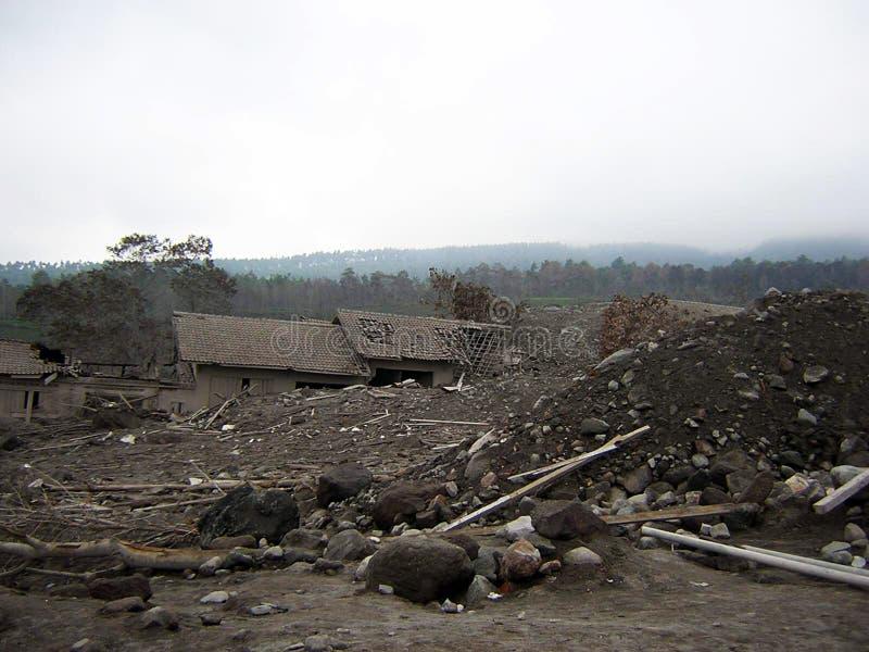 Het dorp van Destruct stock afbeelding