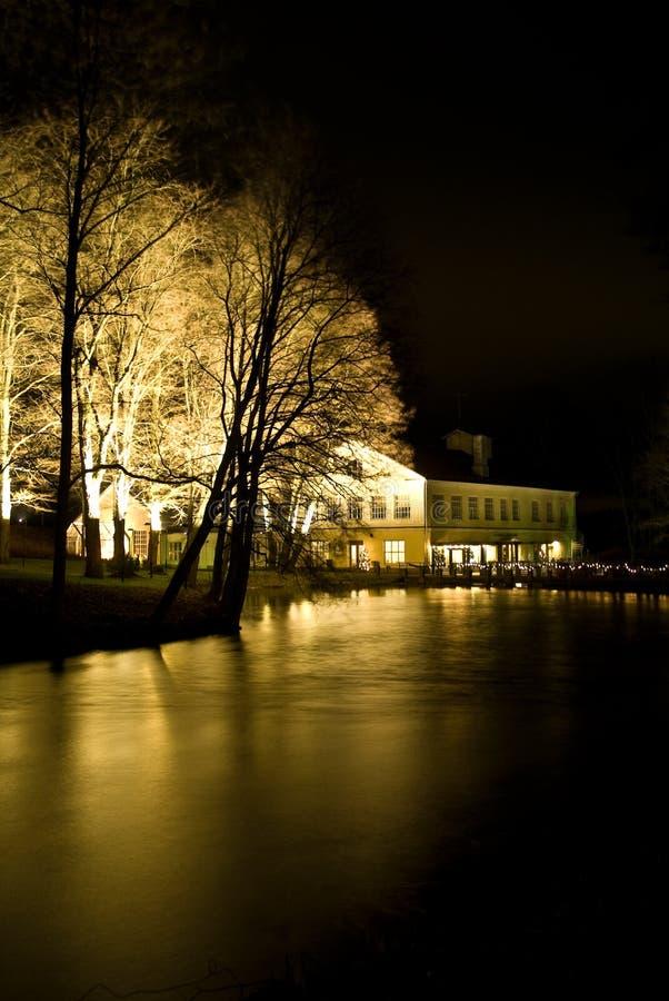 Het dorp van Fiskars in Finland stock foto