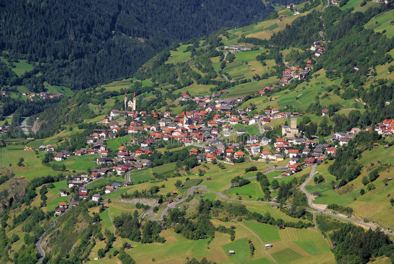 Het dorp van Fliess stock fotografie