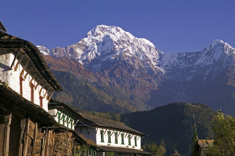 Het Dorp van Ghandruk in Nepal stock foto's
