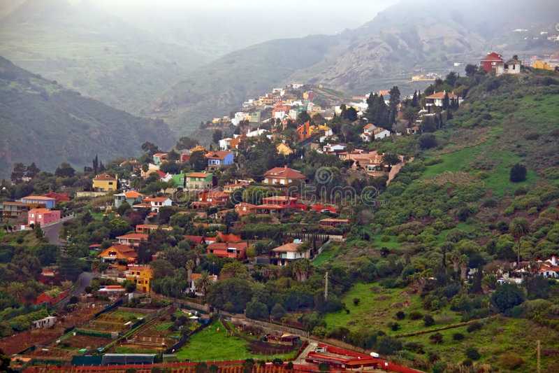 Het dorp van Gran Canaria royalty-vrije stock foto's