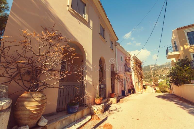 Het dorp van Griekenland stock afbeeldingen