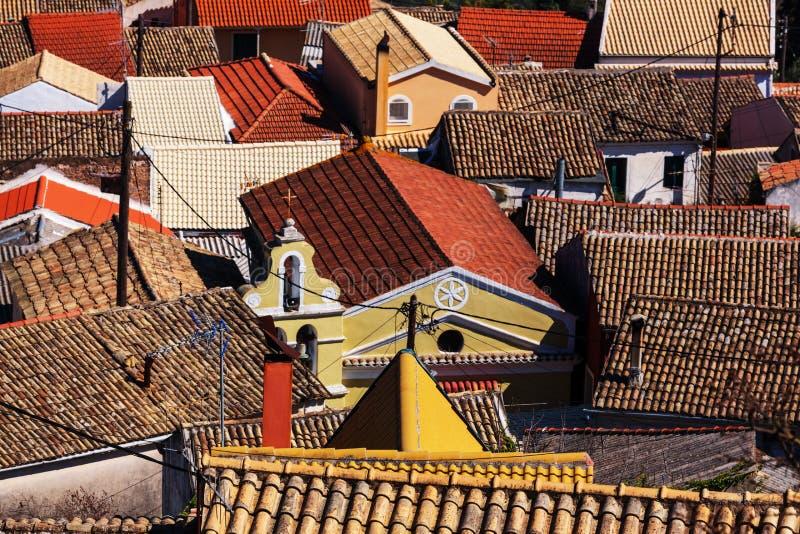 Het dorp van Griekenland stock afbeelding