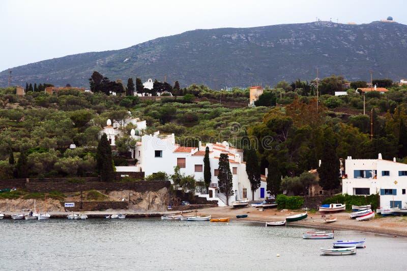 Het dorp van Haven Lligat met huis van Dali royalty-vrije stock afbeeldingen