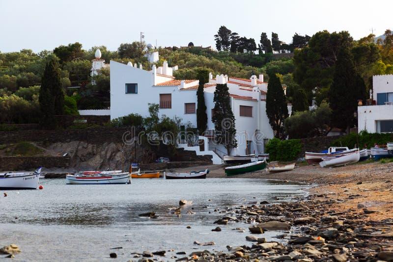Het dorp van Haven Lligat met huis van Dali Cadaques royalty-vrije stock fotografie