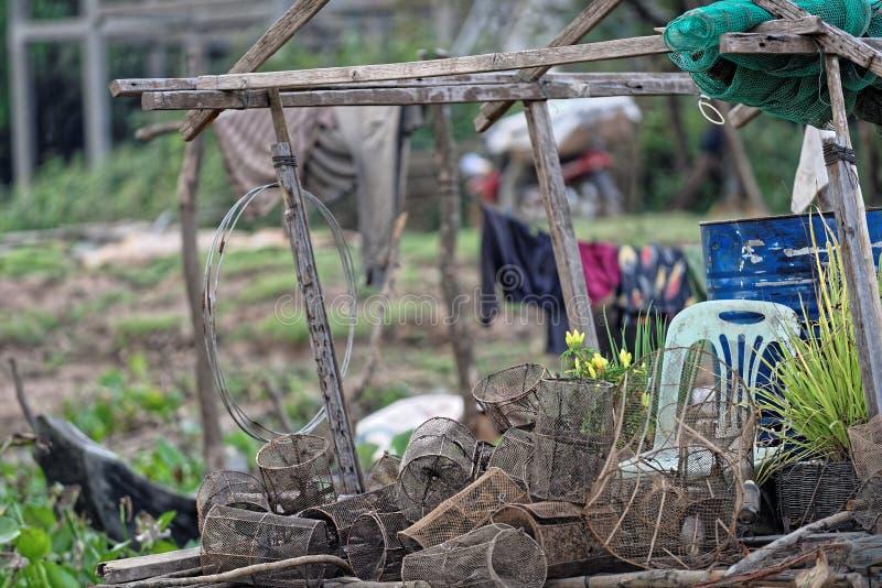 Het Dorp van het Tonlesap, Kambodja royalty-vrije stock foto