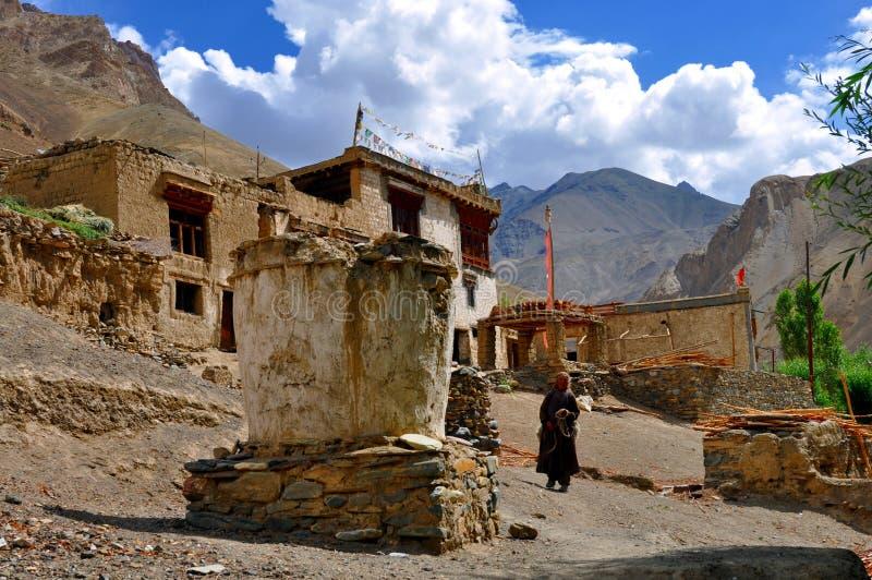 Het dorp van Himalayan stock afbeeldingen