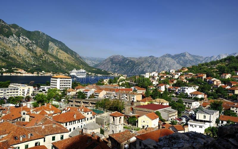Het dorp van Kotor royalty-vrije stock afbeelding