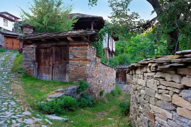 Het dorp van Leshten stock foto
