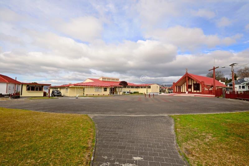 Het dorp van Maori stock foto