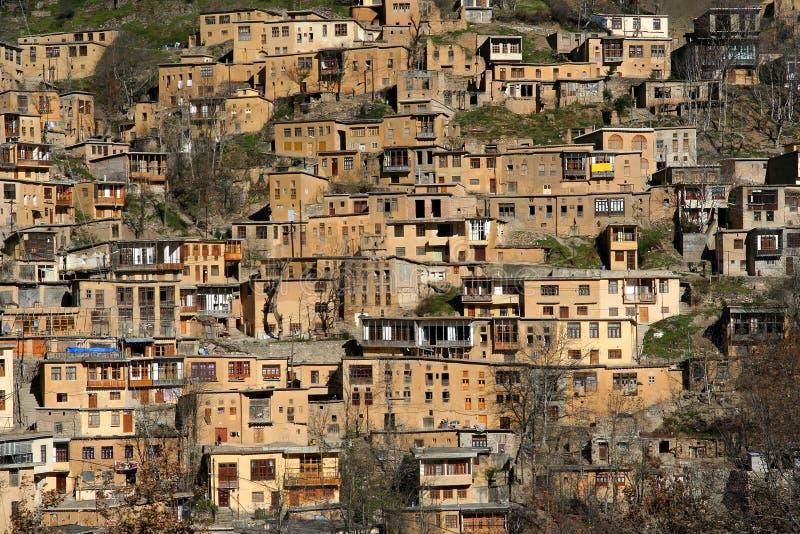 Het dorp van Masuleh stock afbeelding