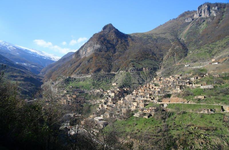 Het dorp van Masuleh stock foto