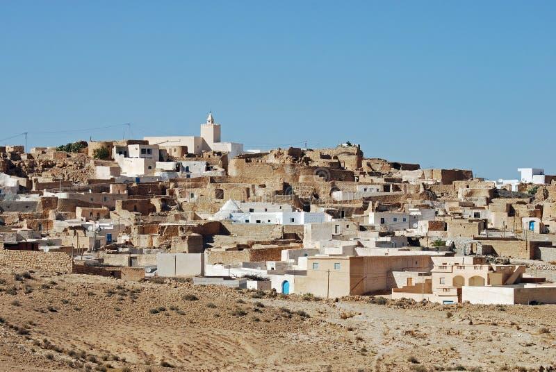Het Dorp van Matmataberber, Sahara Desert, Tunesië royalty-vrije stock foto's